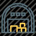 depot, garage, storehouse, warehouse icon