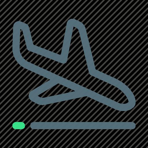 Airplane, landing, plane icon - Download on Iconfinder