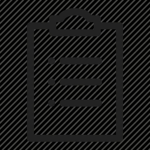 list, report, task icon