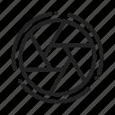 aperture, lens, shot, shutter icon