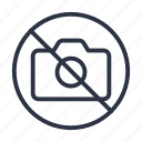 camera, forbidden, not allowed, prohibited icon