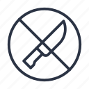 knife, knives, no, prohibited, prohibition, weapons icon