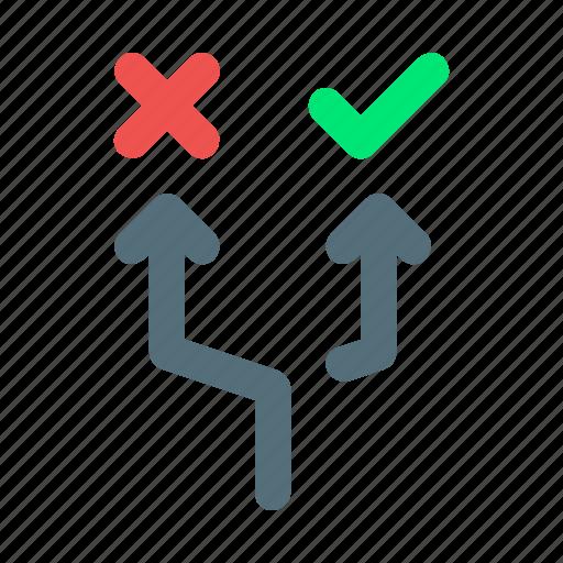 choice, decision, option, way icon