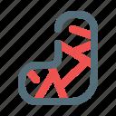 cast, gypsum, plaster, treatment icon