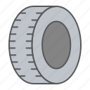 car, tire, wheel, rubber, waste, part