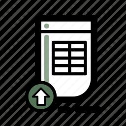 business, document, finance, spreadsheet, transaction icon