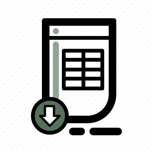 business, document, finance, spreadsheet, transaction icon