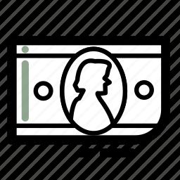bill, business, dollar, finance, money, transaction icon