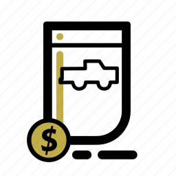 business, car, document, finance, loan, transaction, truck icon