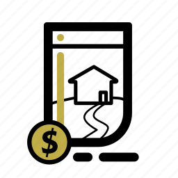 business, document, finance, house, loan, transaction icon
