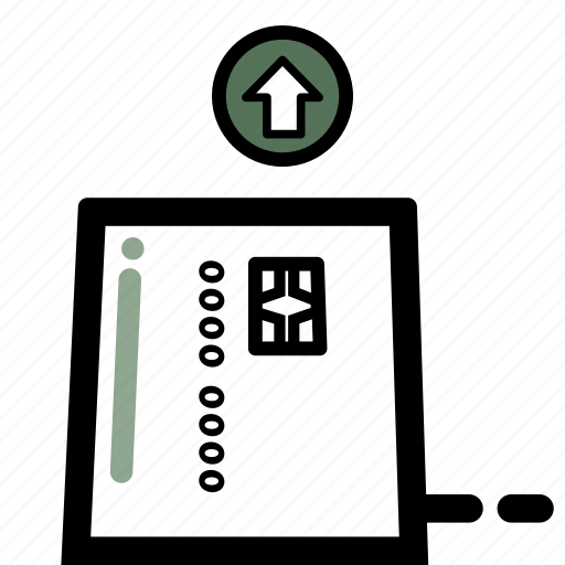 business, chip, credit, debit, finance, pay, transaction icon