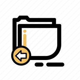 business, finance, folder, transaction icon