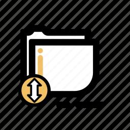 business, finance, folder, transaction icon