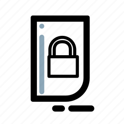 business, document, finance, locked, security, transaction icon