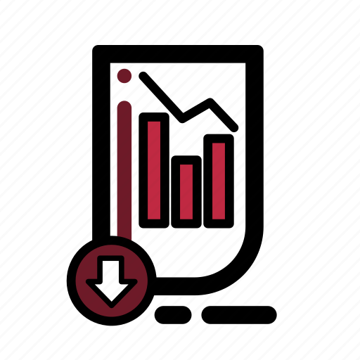 business, document, finance, market, stocks, transaction icon