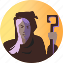 avatar, fantasy, female, people, roleplaying, witch, wizard icon