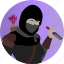 assassin, avatar, fantasy, female, people, rogue, roleplaying icon