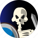 avatar, fantasy, people, roleplaying, rpg, skeleton icon