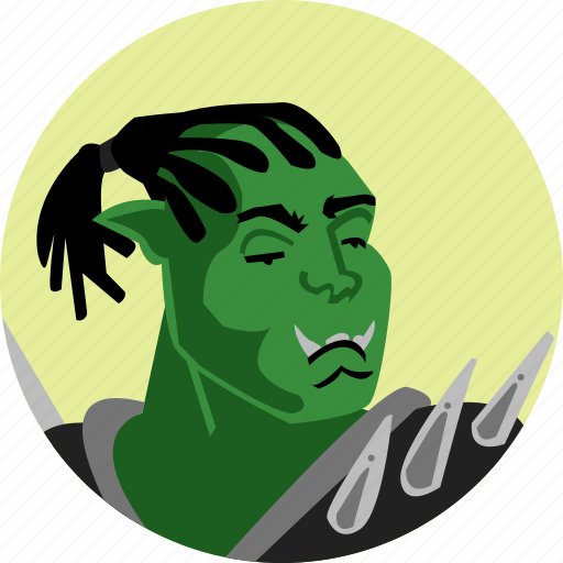 avatar, fantasy, fighter, orc, people, roleplaying, rpg icon