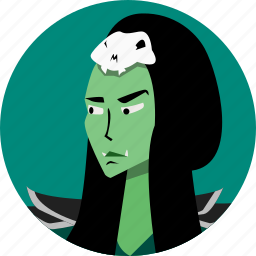 avatar, fantasy, female, orc, people, roleplaying, rpg icon