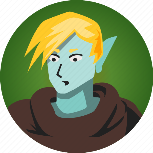 avatar, elf, fantasy, male, people, roleplaying, rpg icon