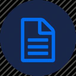 data, description, file, info, note, notes icon