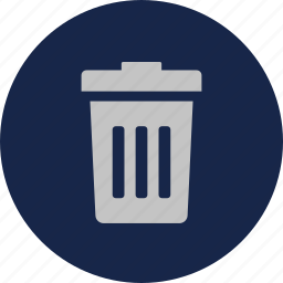bin, delete, garbage, recycle icon