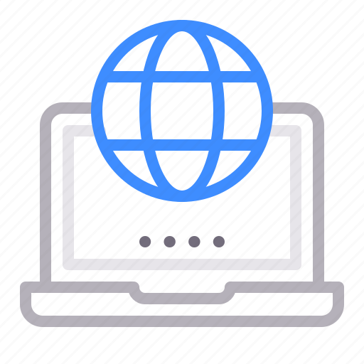 business, connection, global, international, laptop icon