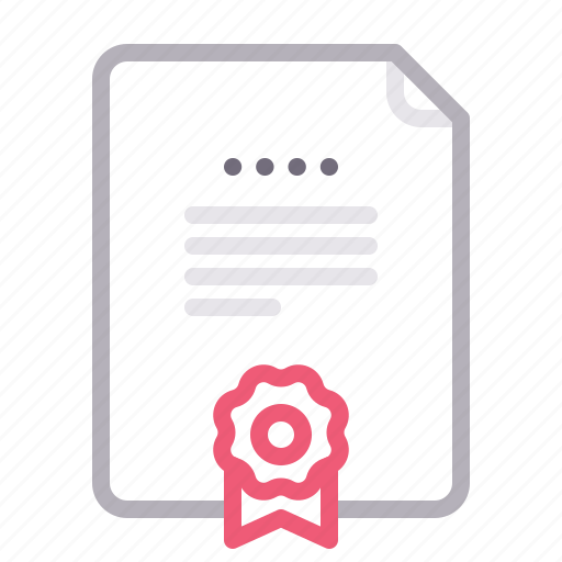 agreement, contract, diploma, license icon