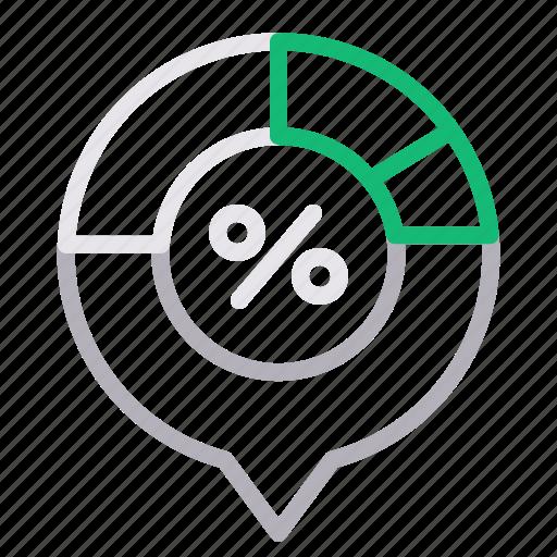 analytics, chart, percentage, statistics icon