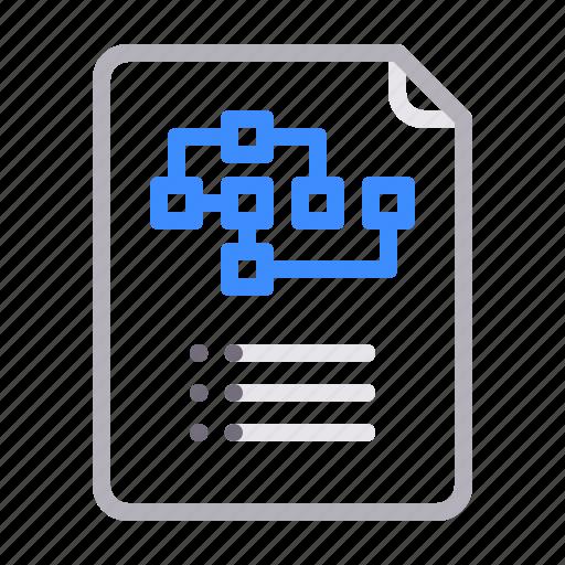 plan, roadmap, scheme, structure icon