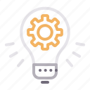 bulb, fresh, gear, idea, light icon