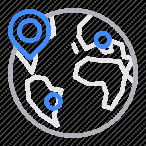 internation, local seo, regional, targeting icon