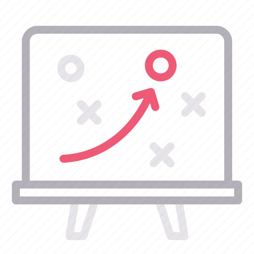 blackboard, solution, strategy, training icon