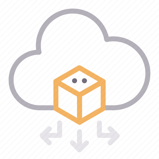 big data, cloud, implementation, sharing icon