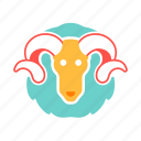 aeries, astrology, horoscope, the ram, zodiac icon