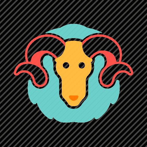 aeries, astrology, horoscope, the ram, zodiac icon