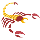 scorpion, sign, zodiac icon