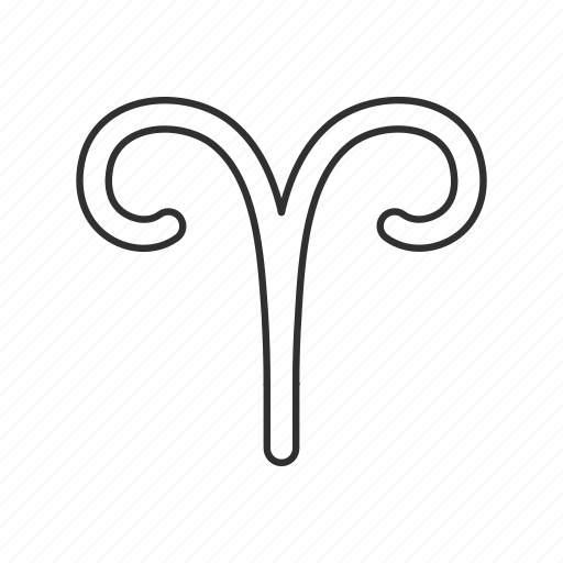 aries, astrological sign, horn, ram icon