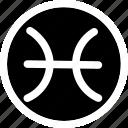 astrology, horoscope, pisces, sign, zodiac icon