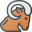 aries, astrology, horoscope, zodiac icon