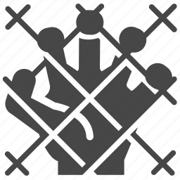 corpse, fence, hand, horror, liberty, wire, zombie icon