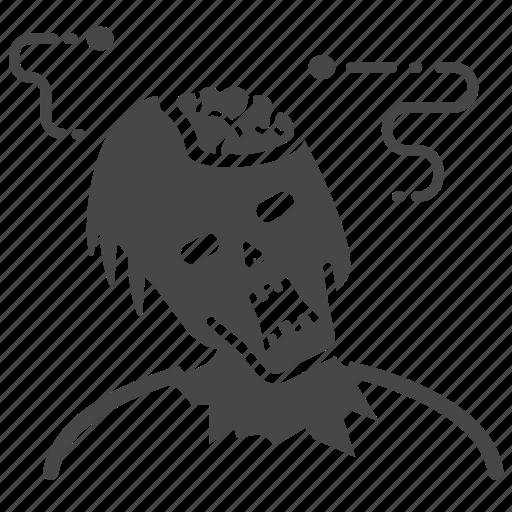 corpse, horror, putrid, rancid, rod, undead, zombie icon