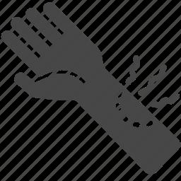 bite, bitten, horror, infected, zombie icon