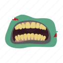 horror, monster, mouth, teeth, zombies