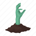 earth, finger, gesture, hand, zombie icon