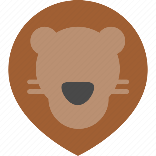 animal, cute, forest, jungle, lion, nature, zoo icon