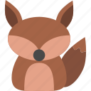animal, cute, forest, fox, jungle, nature, zoo icon