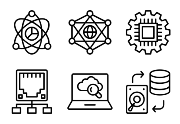 computer networking 1 icons by prosymbols