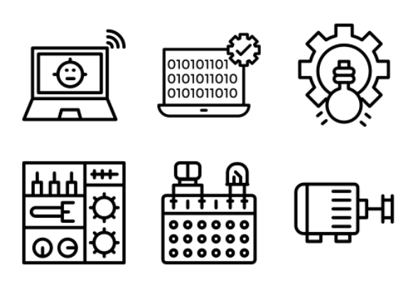 Robotics Engineering Icons By Prosymbols